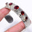 Garnet Gemstone Jewelry Cuff Bracelet Adjustable RC134