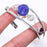 Blue Quartz Druzy Jewelry Cuff Bracelet Adjustable RC137