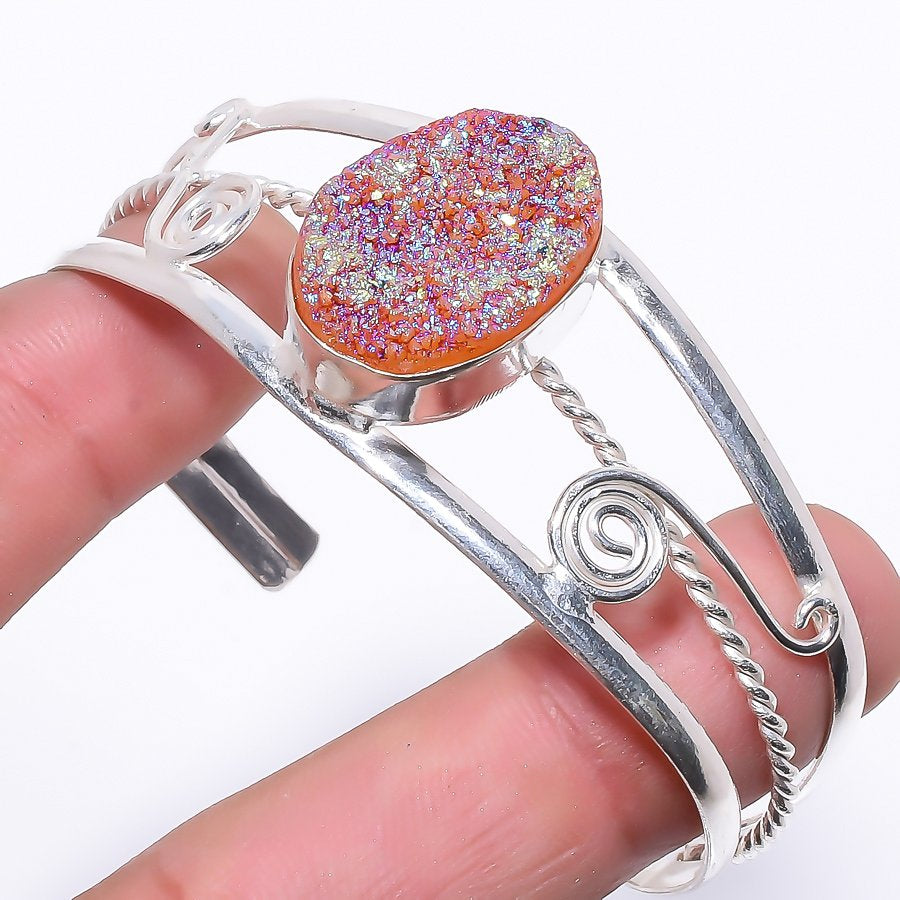 Titanium Druzy Ethnic Jewelry Cuff Bracelet Adjustable RC144