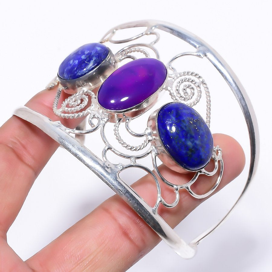 Purple Agate    Jewelry Cuff Bracelet Adjustable RC164