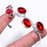 Garnet Gemstone Jewelry Cuff Bracelet Adjustable RC187