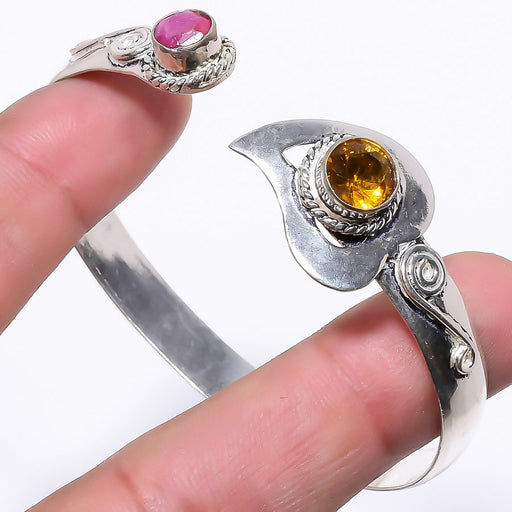 Citrine, Ruby Ethnic Jewelry Cuff Bracelet Adjustable RC193
