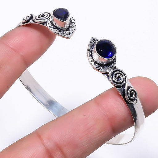 Blue Sapphire Ethnic Jewelry Cuff Bracelet Adjustable RC194