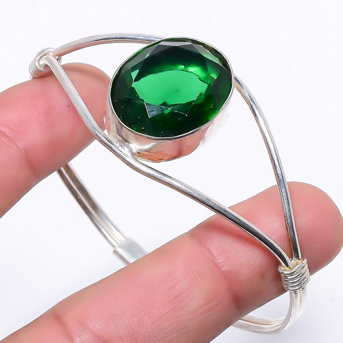 Chrome Diopside Ethnic Jewelry Cuff Bracelet Adjustable RC19