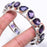 Amethyst Gemstone Jewelry Cuff Bracelet Adjustable RC201