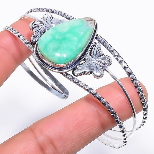 Chrysoprase Gemstone Jewelry Cuff Bracelet Adjustable RC231