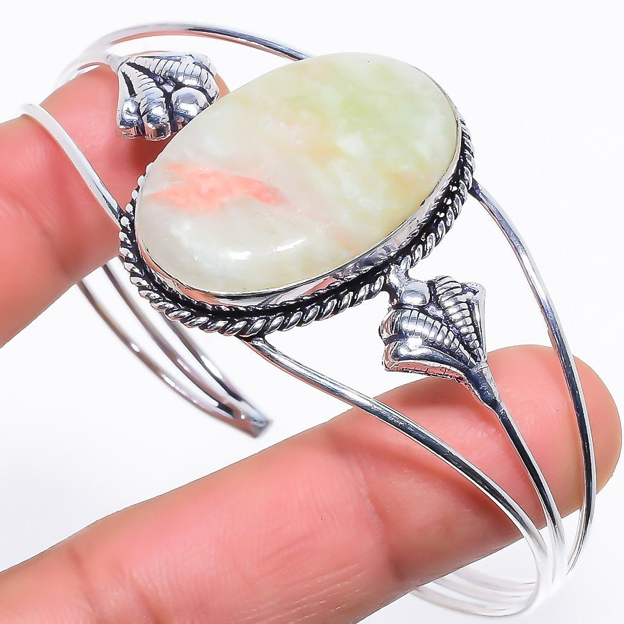 Swiss Opal Gemstone Jewelry Cuff Bracelet Adjustable RC249