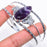 Chevron Amethyst Jewelry Cuff Bracelet Adjustable RC252