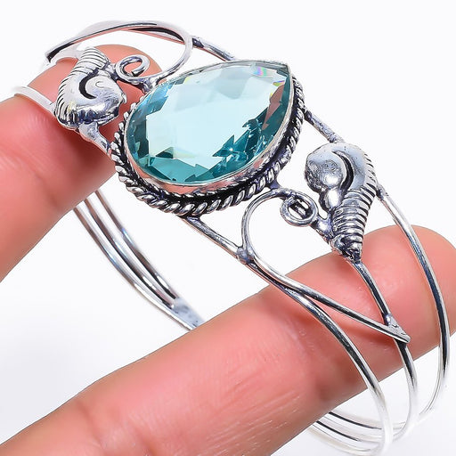 Apatite Gemstone Jewelry Cuff Bracelet Adjustable RC255