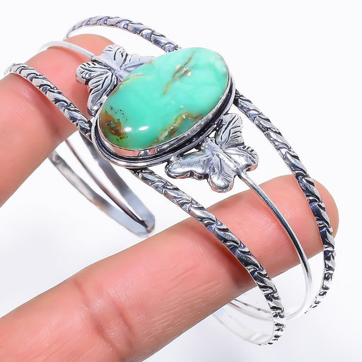 Chrysoprase Gemstone Jewelry Cuff Bracelet Adjustable RC282
