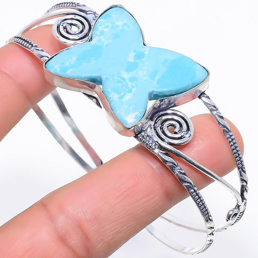 Butter Fly - Larimar Jewelry Cuff Bracelet Adjustable RC287