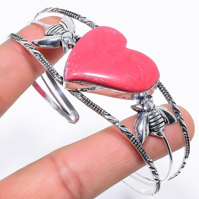 Heart - Coral Ethnic Jewelry Cuff Bracelet Adjustable RC315