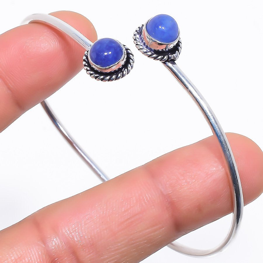 Sapphire Gemstone Jewelry Cuff Bracelet Adjustable RC362