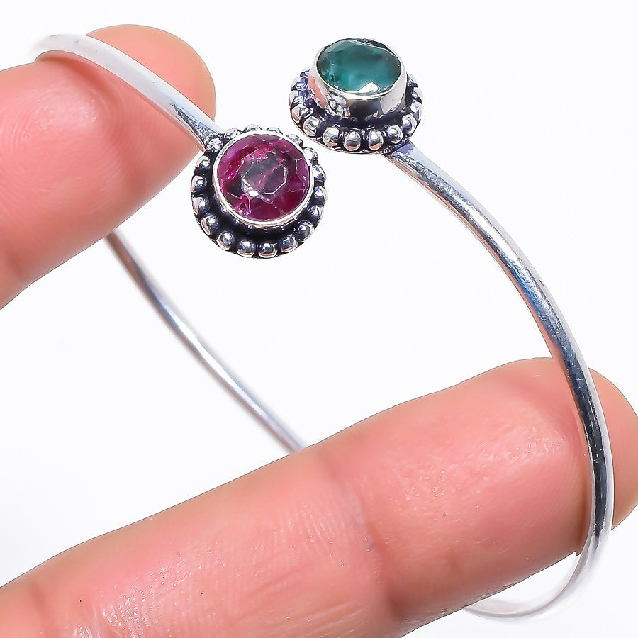 Ruby, Emerald Ethnic Jewelry Cuff Bracelet Adjustable RC363