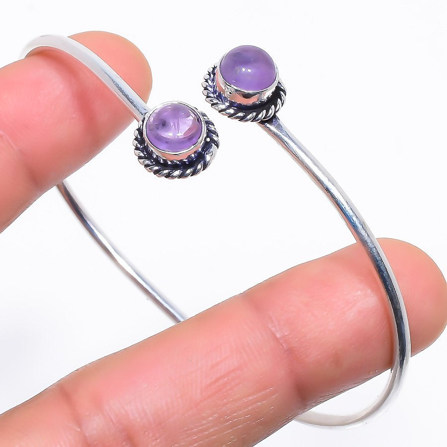 Amethyst Sage Ethnic Jewelry Cuff Bracelet Adjustable RC379