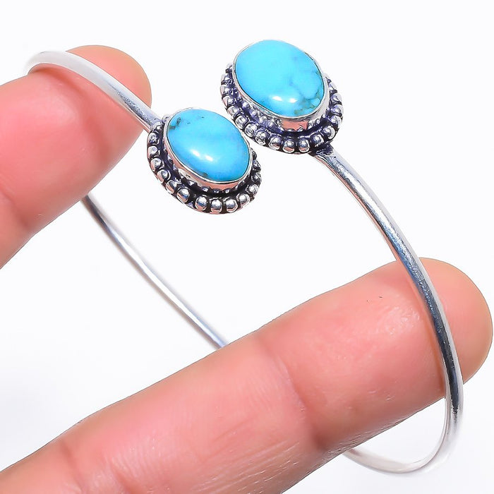 Sleeping Beauty Turquoise Jewelry Cuff Bracelet Adst. RC400