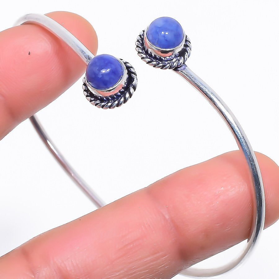 Sapphire Gemstone Jewelry Cuff Bracelet Adjustable RC445