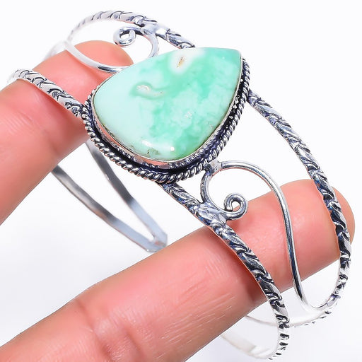 Chrysoprase Gemstone Jewelry Cuff Bracelet Adjustable RC458