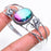 Bi-Color Tourmaline Jewelry Cuff Bracelet Adjustable RC465