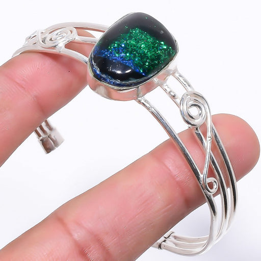 Dichroic Glass Ethnic Jewelry Cuff Bracelet Adjustable RC46