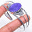 Charoite Gemstone Jewelry Cuff Bracelet Adjustable RC482