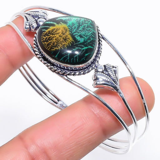 Dichroic Glass Ethnic Jewelry Cuff Bracelet Adjustable RC506