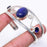 Lapis Lazuli Jewelry Cuff Bracelet Adjustable RC50