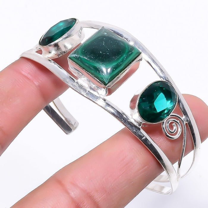 Malachite Jewelry Cuff Bracelet Adjustable RC52