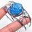 Blue Titanium Druzy Jewelry Cuff Bracelet Adjustable RC533