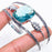 Blue Topaz Gemstone Jewelry Cuff Bracelet Adjustable RC537