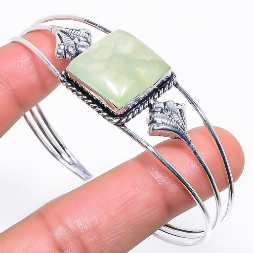 Prehnite Gemstone Jewelry Cuff Bracelet Adjustable RC580