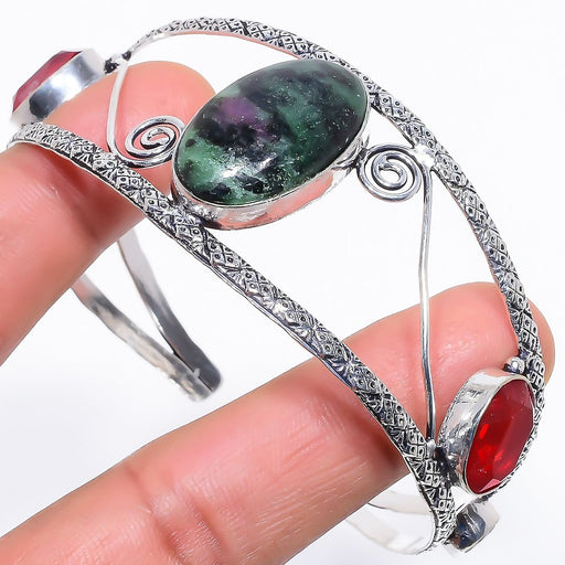 Ruby In Zoisite Jewelry Cuff Bracelet Adjustable RC632