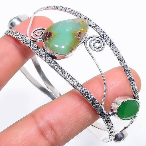 Chrysoprase Jewelry Cuff Bracelet Adjustable RC644