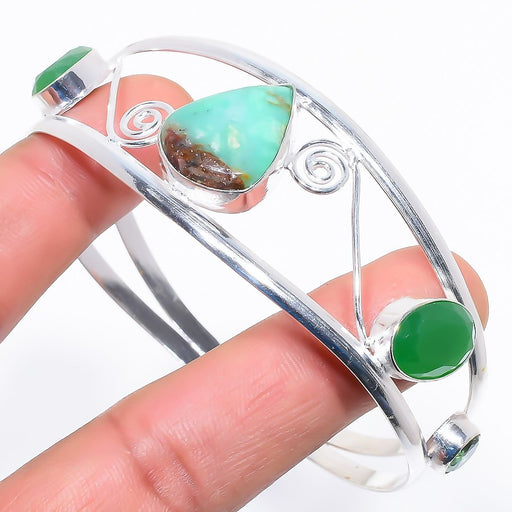 Chrysoprase Jewelry Cuff Bracelet Adjustable RC655