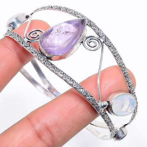 Amethyst Sage Jewelry Cuff Bracelet Adjustable RC658