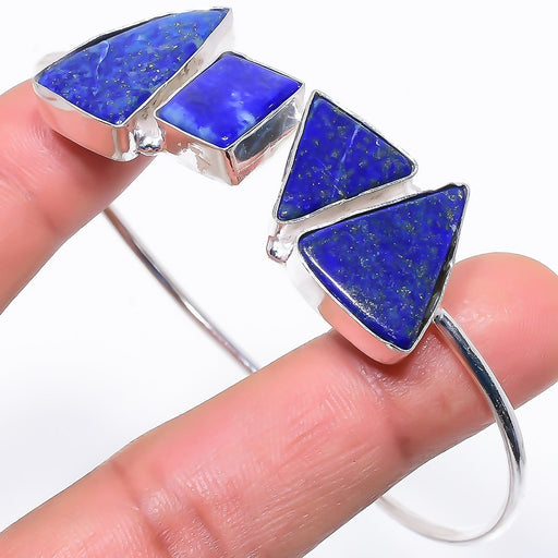 Lapis Lazuli Gemstone Jewelry Cuff Bracelet Adjustable RC682