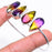 Ametrine Gemstone Jewelry Cuff Bracelet Adjustable RC698