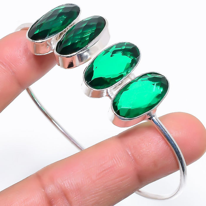 Emerald Quartz Ethnic Jewelry Cuff Bracelet Adjustable RC701