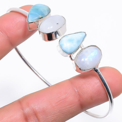 Caribbean Larimar Jewelry Cuff Bracelet Adjustable RC704
