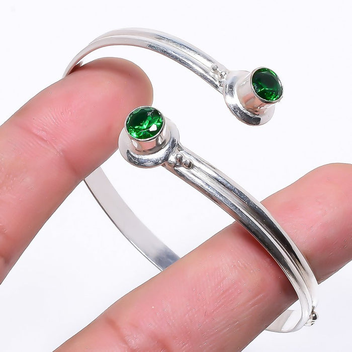 Chrome Diopside Ethnic Jewelry Cuff Bracelet Adjustable RC88