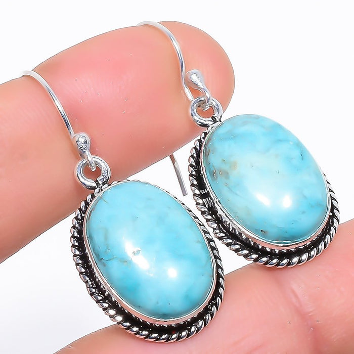 Santa Rosa Turquoise Gemstone Jewelry Earring 1.5 Inches RE1027