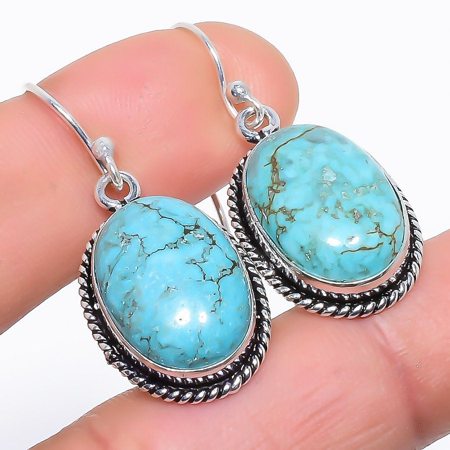 Santa Rosa Turquoise Gemstone Jewelry Earring 1.5 Inches RE1038