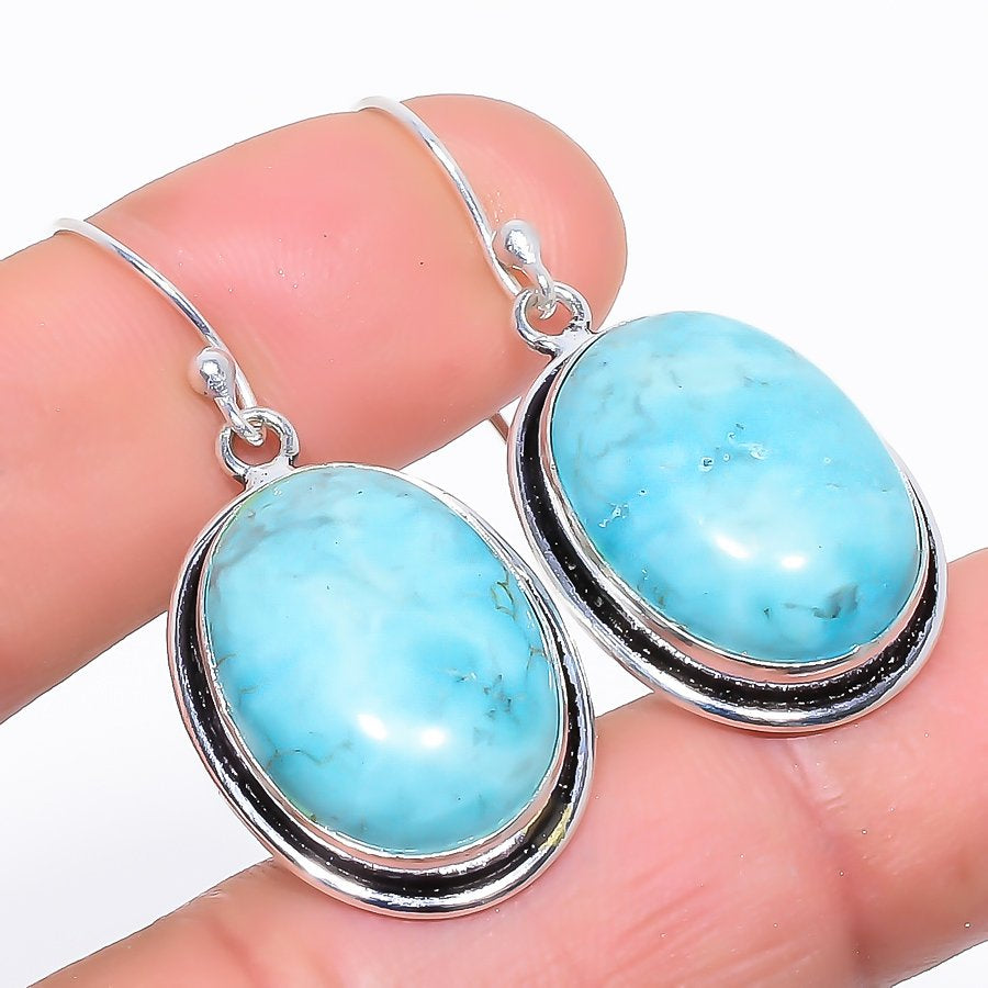 Santa Rosa Turquoise Gemstone Jewelry Earring 1.6 Inches RE1048