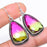 Bi-Color Tourmaline Gemstone Jewelry Earring 1.8 Inches RE1072