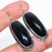 Black Onyx Gemstone Handmade Jewelry Earring 2.0 Inches RE1118