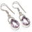 Kunzite Quartz Gemstone Handmade Jewelry Earring 1.6 Inches RE1195