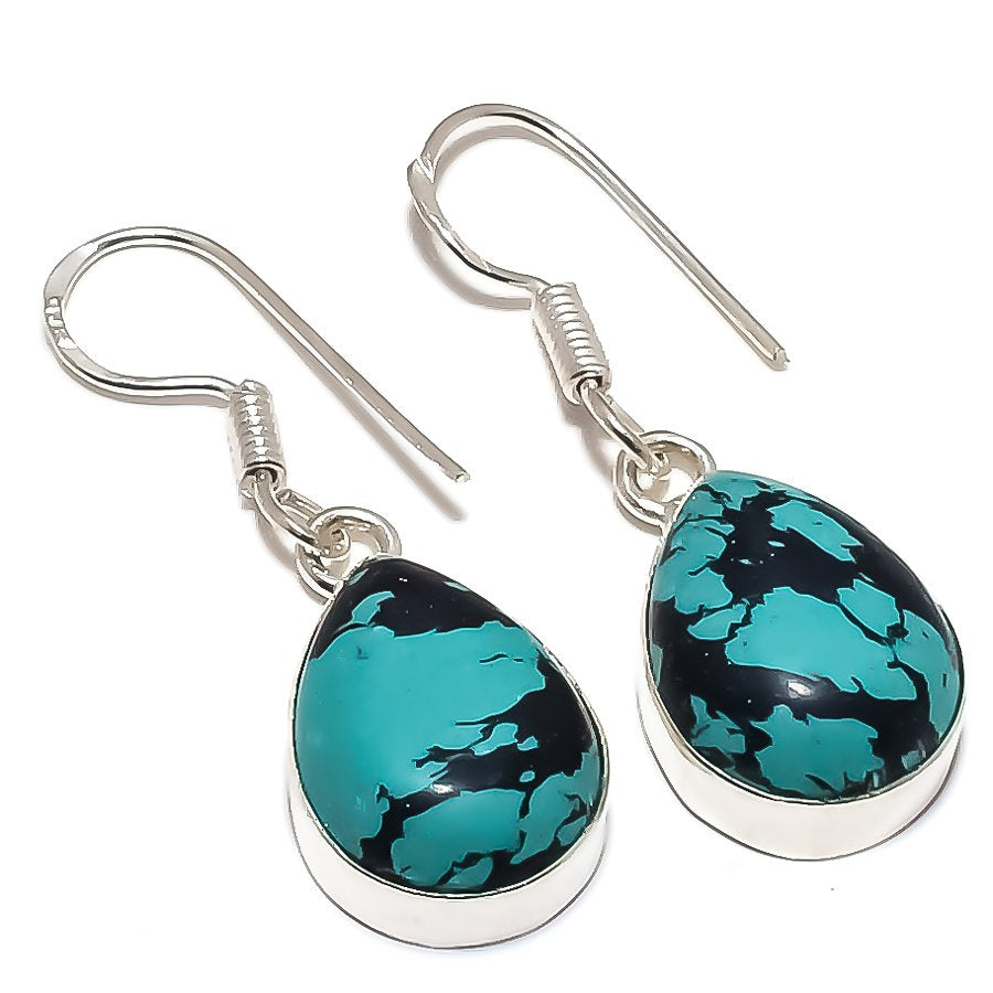 Santa Rosa Turquoise Gemstone Jewelry Earring 1.5 Inches RE1209