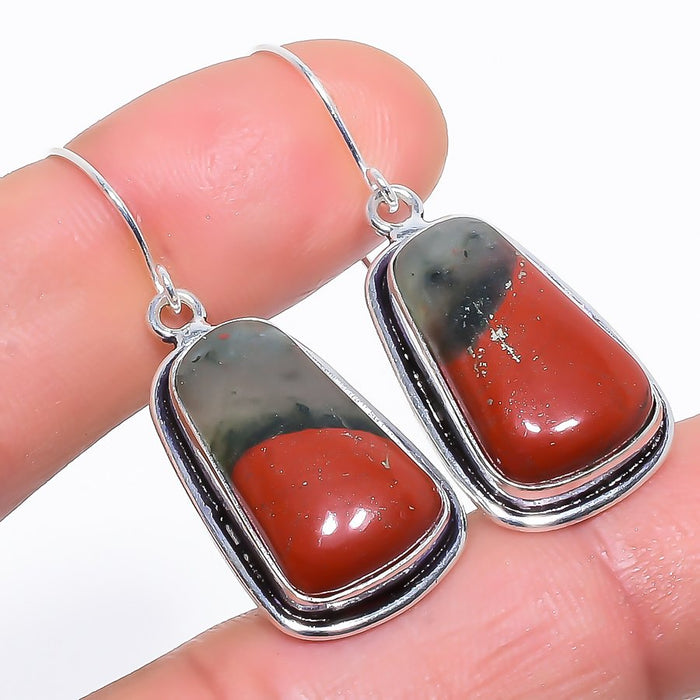 Sonora Red Jasper Gemstone Ethnic Jewelry Earring 1.7 Inches RE929