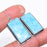 Larimar Gemstone Handmade Ethnic Jewelry Earring 2.0 Inches RE958