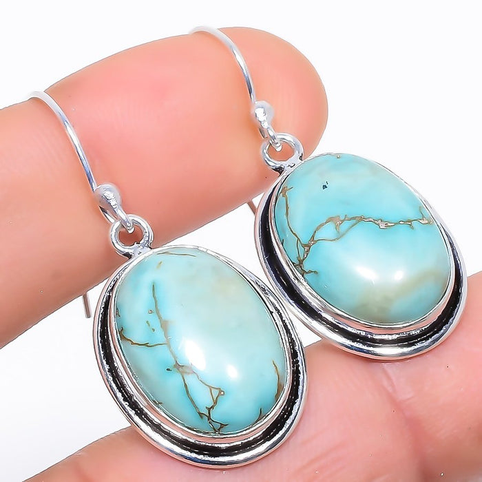 Santa Rosa Turquoise Gemstone Jewelry Earring 1.5 Inches RE999